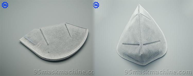 Production Sample OF Fold Mask Making Machine